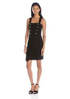 "XOXO Women's 25 3/4"" Asymmetrical Sheath Dress"