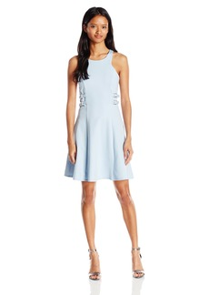 "XOXO Women's 25"" Belted Side Fit and Flare Dress"