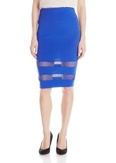XOXO Women's 25-Inch Mesh-Insert Skirt