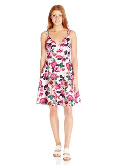 XOXO Women's 27-inch Printed Fit-and-Flare Dress