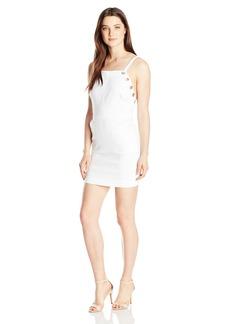 XOXO Women's 31 Inch Denim Sheath Dress with Grommet Detail