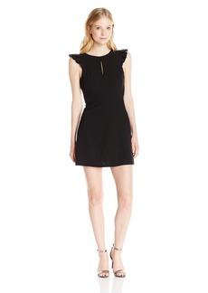 XOXO Women's 32 inch Ruffled Sleeve Keyhole Neck Dress