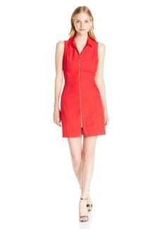 XOXO Women's 33 1/2 Collar Front Zip Dress