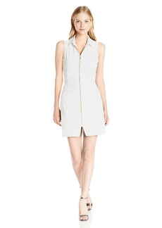 XOXO Women's 33 1/2 Inch Collar Front Zip Dress