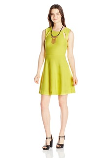 XOXO Women's 33 5/6 inch Cutout Fit and Flare Dress