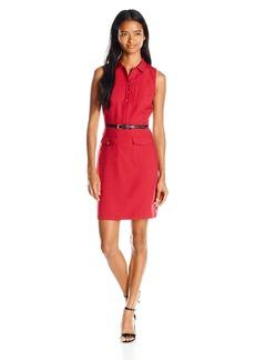 XOXO Women's 33-Inch Button Front Sleeveless Dress