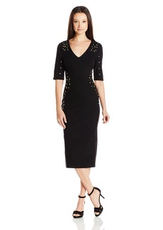 "XOXO Women's 35"" Grommet Body Con Dress"
