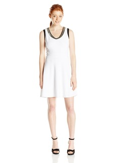 XOXO Women's 35 Inch Knit Fit and Flare Dress