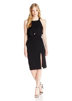 XOXO Women's 37 Tiered Midi Dress with Front Slit