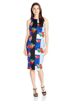 XOXO Women's 38 1/2 inch Printed Sheath Dress