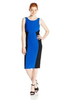 XOXO Women's 41 Inch Sunrise Colorblock Sleeveless Sheath Dress