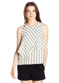 XOXO Women's Asymmetrical Sleeveless Top