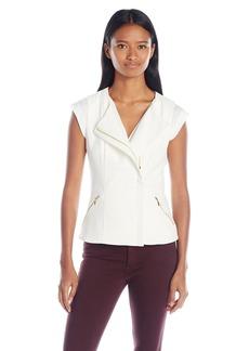 XOXO Women's Asymmetrical Zip Front Vest