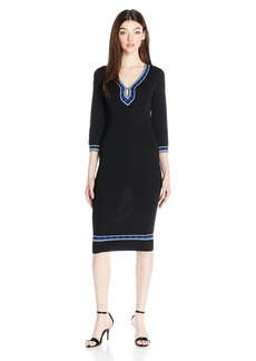 XOXO Women's Bell Sleeves Body Con Midi Dress