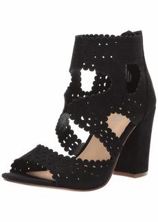 XOXO Women's Bowery Heeled Sandal black  M US