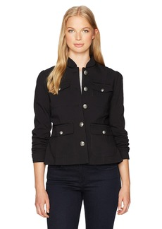 XOXO Women's Braided Patch Pocket Jacket