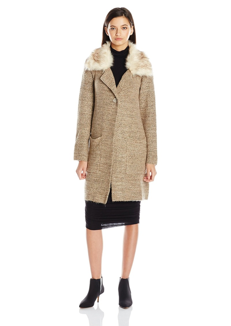 XOXO Women's Button Front Sweater Coat with Double Pockets  X-Large