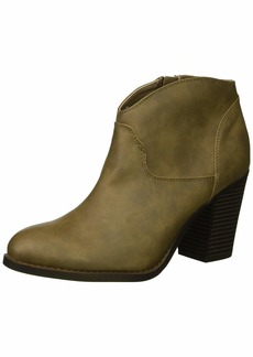 XOXO Women's Cammie Ankle Boot dark taupe  M US