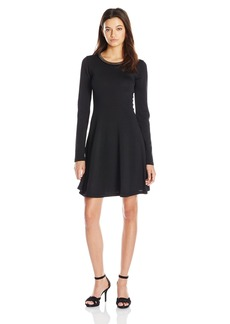 XOXO Women's Chain Neck a Line Dress