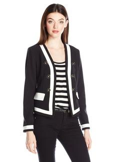 XOXO Women's Color Blocked Sailor Jacket