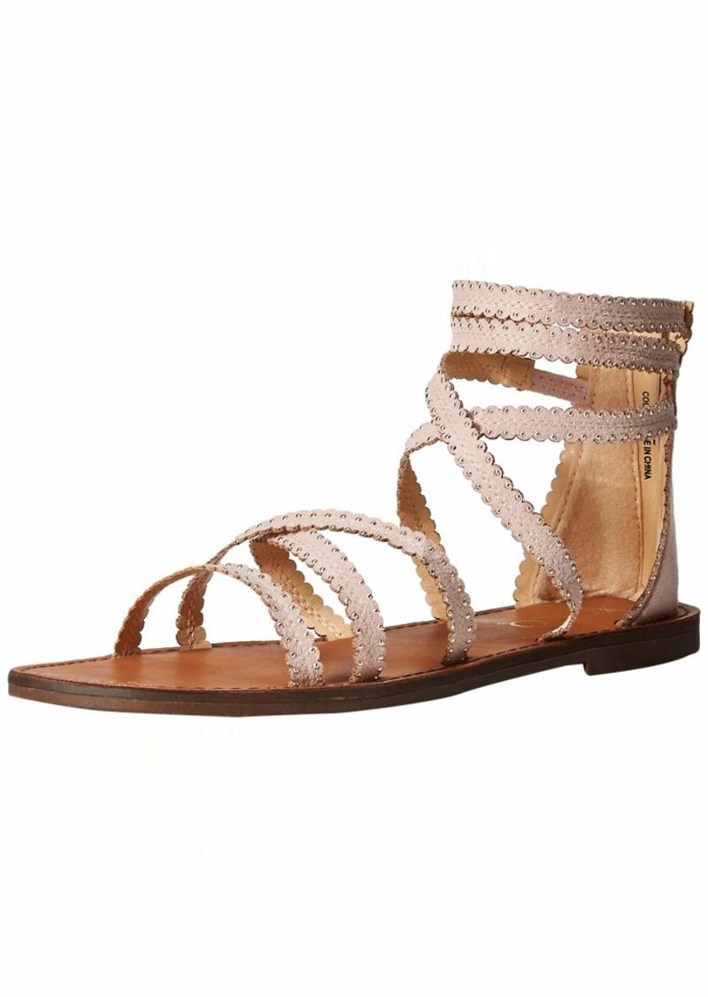 XOXO Women's Colton Flat Sandal   M US