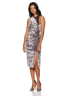 XOXO Women's Crushed Velvet Front Twist Dress
