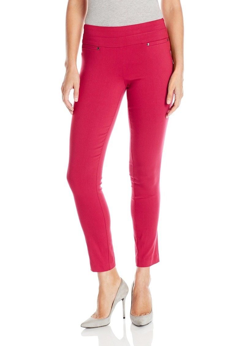 "XOXO Women's Double Waistband Pull-On Pant Inseam: 29"" L.O.: 11 1/2"""