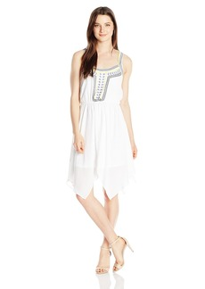 XOXO Women's Embroidered Peasant Dress