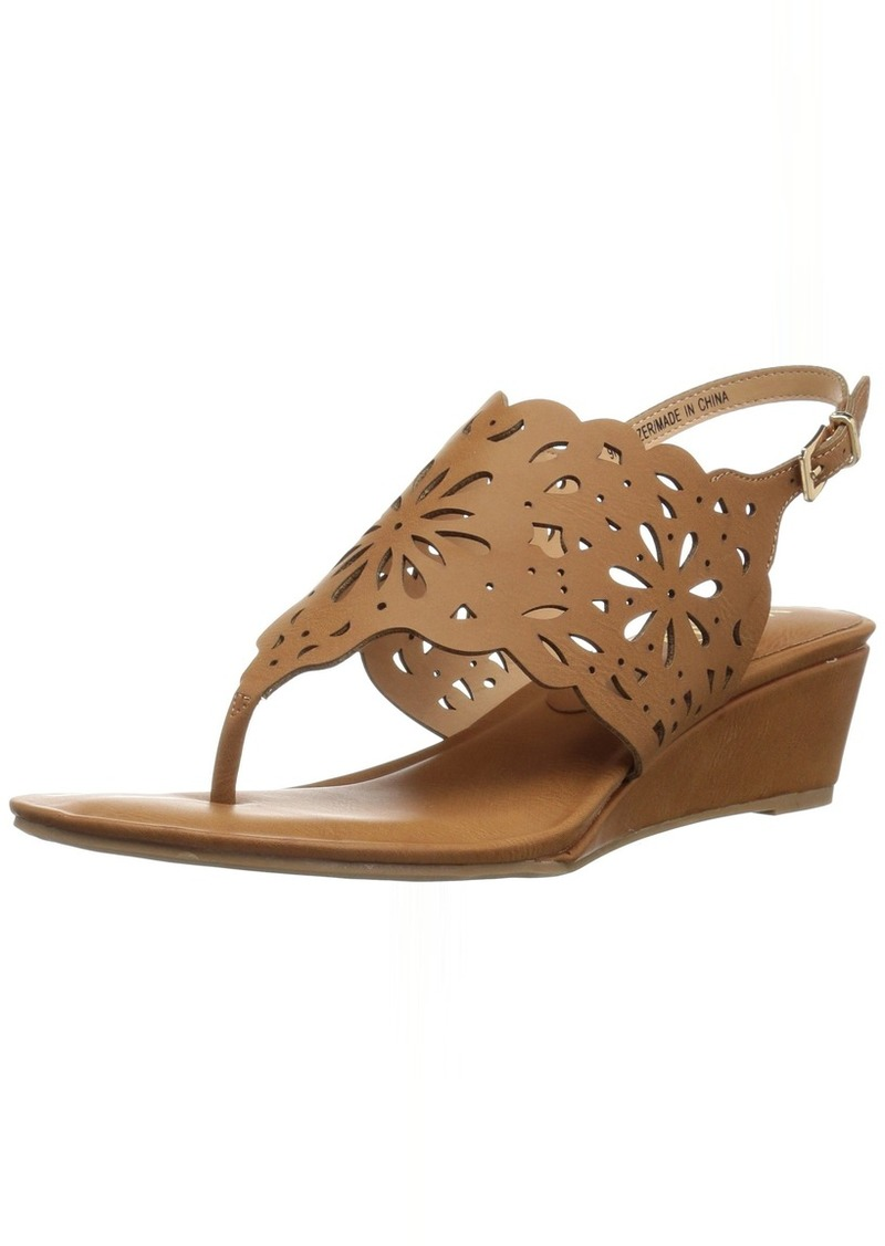XOXO Women's Frazer Wedge Sandal tan M065 M US