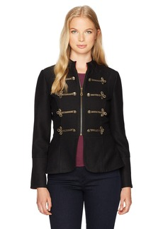 XOXO Women's Frogging Peplum Jacket