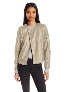 XOXO Women's Glazed Ponte Fabric Mix Jacket