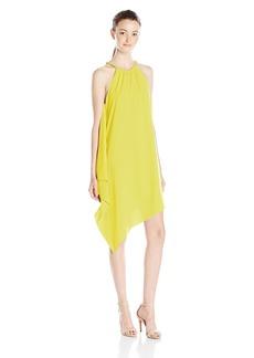 XOXO Women's Halter Handkerchief Dress