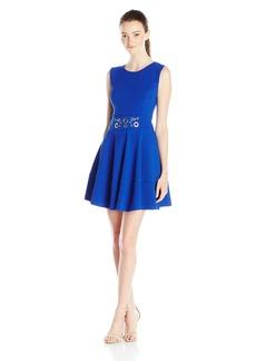XOXO Women's Hardware Waist Embellishment Dress