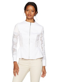 XOXO Women's Lace Peplum Jacket