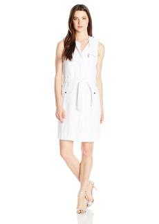 XOXO Women's Long Moto Sleeveless Dress