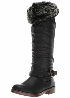 XOXO Women's Marius Fashion Boot black  M US