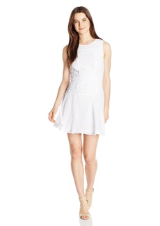 XOXO Women's Mesh Lace Sheath Dress