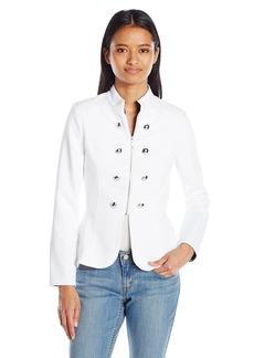 XOXO Women's Military Zip Front Jacket