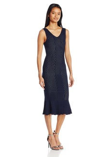 XOXO Women's Novelty Stitch Stretchy Midi Dress