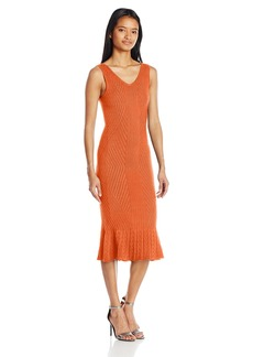 XOXO Women's Novelty Stitch Stretchy Midi Dress