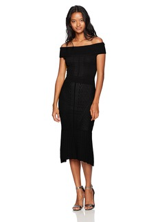 XOXO Women's Off The Shoulder Novelty Midi Dress