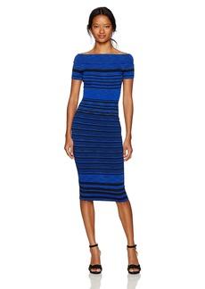 XOXO Women's Off The Shoulder Spacedye Dress