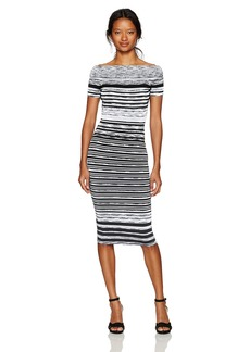 XOXO Women's Off The Shoulder Spacedye Dress