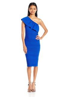 XOXO Women's One Shoulder Stitch Mix Bodycon Dress
