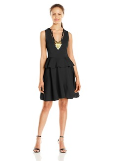 XOXO Women's Peplum Scuba Dress