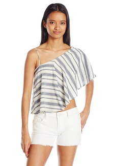 XOXO Women's Peruvian Cotton Stripe One Shoulder Top