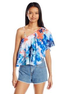 XOXO Women's Printed Rebecca One Shoulder Top