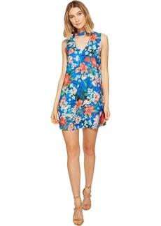XOXO Women's Printed Sleeveless Choker Dress