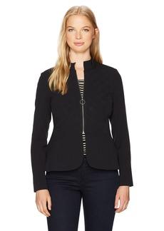 XOXO Women's Quilted Peplum Jacket