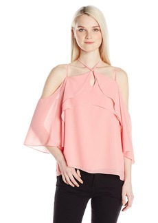 XOXO Women's ST Georgette Ruffle Off The Shoulder Top RO